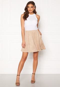 Rut & Circle Ava Suede Skirt Beige Bubbleroom.no