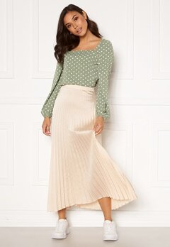 Rut & Circle Bianca Long Skirt Light Beige Bubbleroom.no