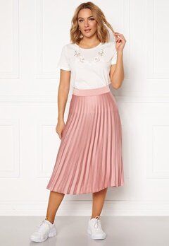 Rut & Circle Bianca Pleated Skirt Dusty Pink Bubbleroom.no