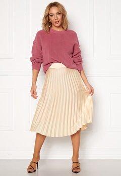 Rut & Circle Bianca Pleated Skirt Light Beige Bubbleroom.no