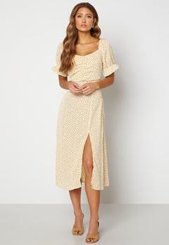 Rut & Circle Camille Dress 701 Yellow Flower Bubbleroom.no