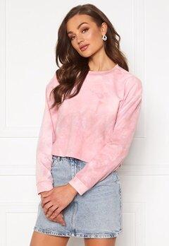 Rut & Circle Celine Short Sweater Pink Tie Dye Bubbleroom.no