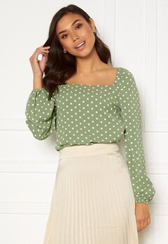 Rut & Circle Cleo Blouse Tea Green Dot Bubbleroom.no