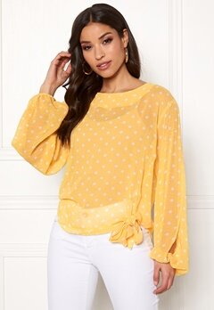 Rut & Circle Dot Sleeve Open Blouse Butter Bubbleroom.no