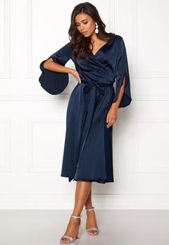 Rut & Circle Fab Wrap Long Dress Midnight Blue Bubbleroom.no