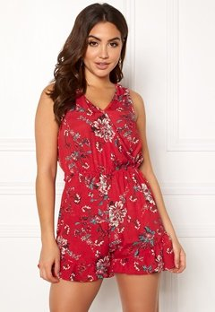Rut & Circle Fatima Playsuit Red Combo Bubbleroom.no
