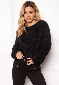 Rut & Circle Feather Knit Black Bubbleroom.no