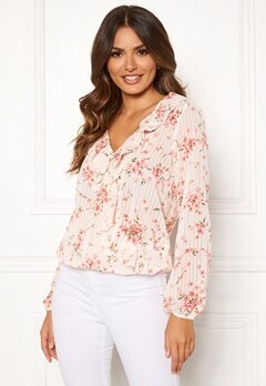 Rut & Circle Flower Frill Blouse White/Pink Bubbleroom.no