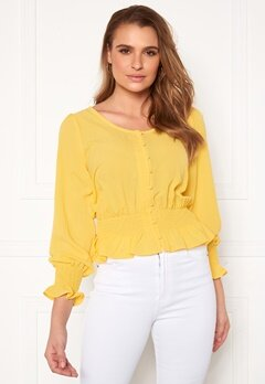 Rut & Circle Freya Blouse Yellow Bubbleroom.no