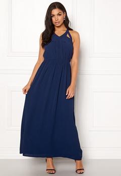 Rut & Circle Hip Long Dress Midnight Blue Bubbleroom.no