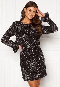 Rut & Circle Isa Dress Black/White Star Bubbleroom.no