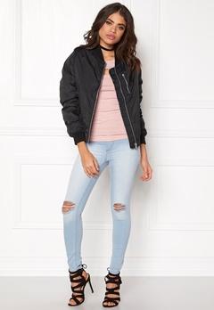 Rut & Circle Kate Front Zip Jacket Black Bubbleroom.no