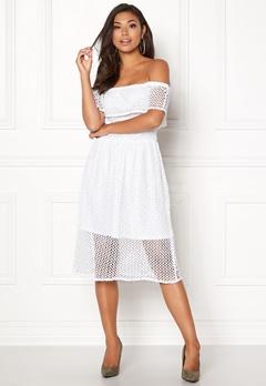 Rut & Circle Li Off Shoulder Dress White Bubbleroom.no