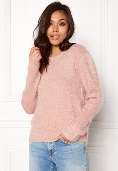 Rut & Circle Lisa Fluffy Knit Dusty Pink Bubbleroom.no