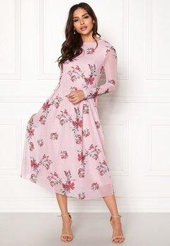 Rut & Circle Long Sleeve Mesh Dress Pink Bubbleroom.no