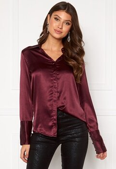 Rut & Circle Lucy Shirt Wine Red Bubbleroom.no