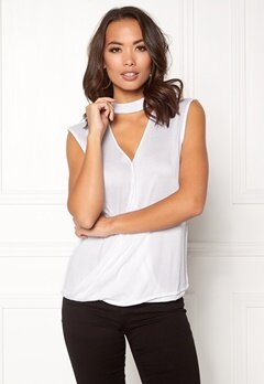 Rut & Circle Nadie Choker Wrap Top White Bubbleroom.no