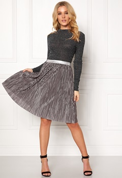 Rut & Circle Nina Pleat Skirt Sølv Bubbleroom.no