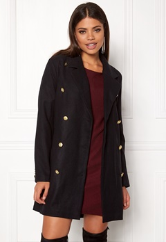 Rut & Circle Nor Button Coat Black Bubbleroom.no