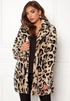 Rut & Circle Nova Faux Fur Leo Jacket Leopard Bubbleroom.no