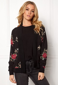 Rut & Circle Rina Flower Jacket Black Bubbleroom.no