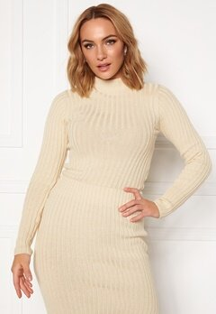 Rut & Circle Sabina Knit Top Light Beige Bubbleroom.no
