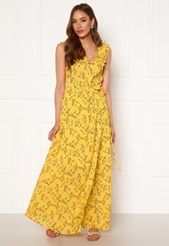 Rut & Circle Serina Maxi Dress Yellow Flower Bubbleroom.no