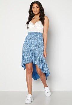 Rut & Circle Telma Asymmetric Skirt Blue Print bubbleroom.no