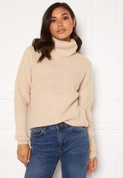 Rut & Circle Tinelle Rollnneck Knit Beige Bubbleroom.no