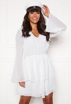 Rut & Circle Tuva Frill Dress White Bubbleroom.no