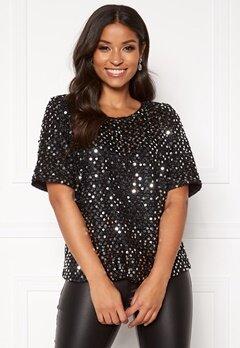 Rut & Circle Vanessa Top Black/Silver Sequins Bubbleroom.no