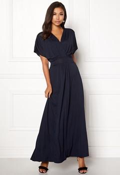 Rut & Circle Vivian Long Dress Dark Navy Bubbleroom.no