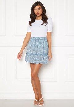 Rut & Circle Vivian Skirt Mid Blue/ White Leo Bubbleroom.no