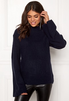 Rut & Circle Wide Sleeve Pullover Midnight Blue Bubbleroom.no