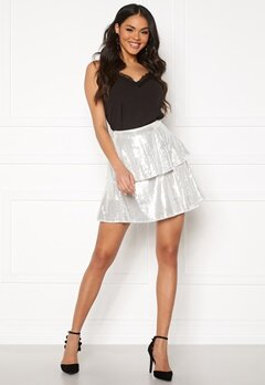 Rut & Circle Yasmin Skirt Silver Sequins Bubbleroom.no