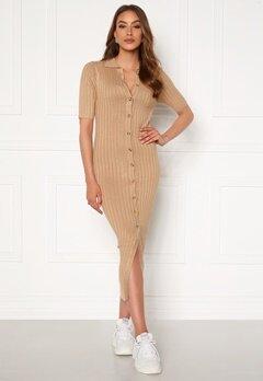 Rut & Circle Zandra Knitted Dress Beige Bubbleroom.no