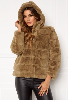 Ivyrevel Faux Fur Jacket Brown Bubbleroom