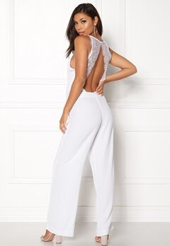 Samsøe & Samsøe Willow Jumpsuit White Bubbleroom.no