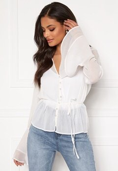 Sandra Willer X Bubbleroom Bell sleeve blouse White Bubbleroom.no