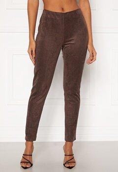DRY LAKE Sansa Trousers 207 Brown Faux Suede Bubbleroom.no