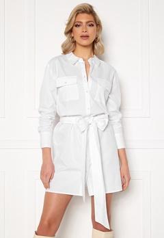 Sara Sieppi x Bubbleroom Belted Shirt Dress White Bubbleroom.no