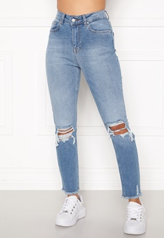 Sara Sieppi x Bubbleroom Distressed Jeans Blue Bubbleroom.no