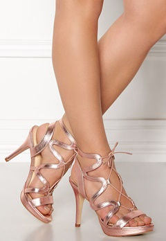 SARGOSSA Chic Nappa Leather Heels Rose Gold Bubbleroom.no