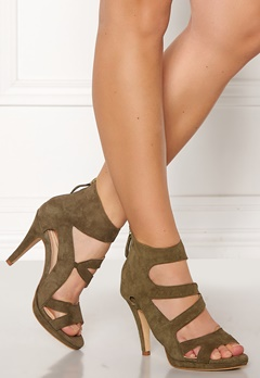 SARGOSSA Dare Suede Heels Green Bubbleroom.no