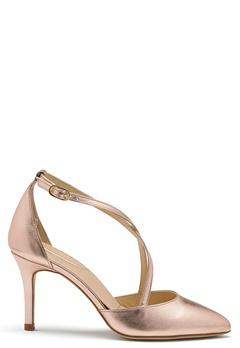 SARGOSSA Glitzy Leather Heels Rose Gold Bubbleroom.no