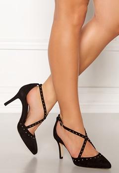 SARGOSSA Glitzy Suede Heels Black Bubbleroom.no
