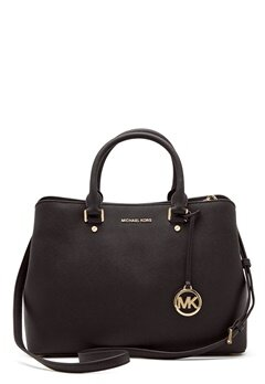 Michael Michael Kors Savannah LG Satchel Bag 001 Black Bubbleroom.no