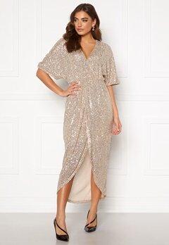VILA Savias 2/4 Midi Dress Silver Peony Bubbleroom.no