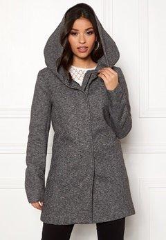 ONLY Sedona Light Coat Dark Grey Melange Bubbleroom.no