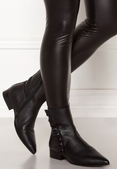 SELECTED FEMME Alexia Leather Frill Boot Black Bubbleroom.no